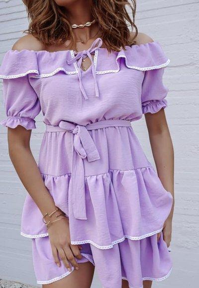 Sukienka ISABELLA liliowa