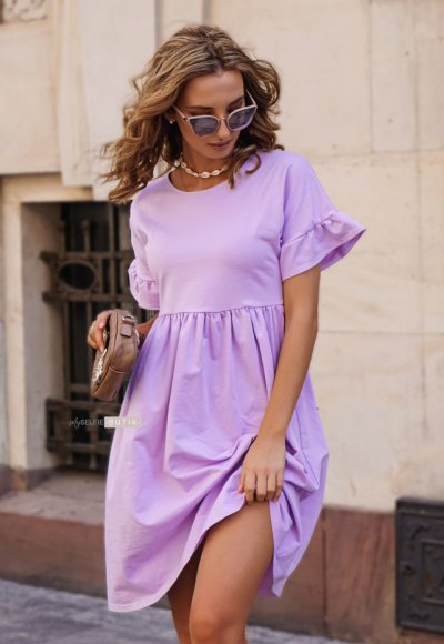 Sukienka ROMA liliowa