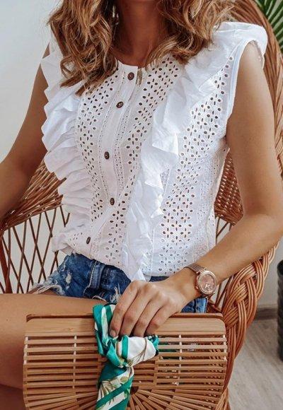 Koszula NIVEA biała ażurowa