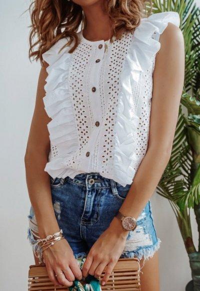Koszula NIVEA biała ażurowa 2