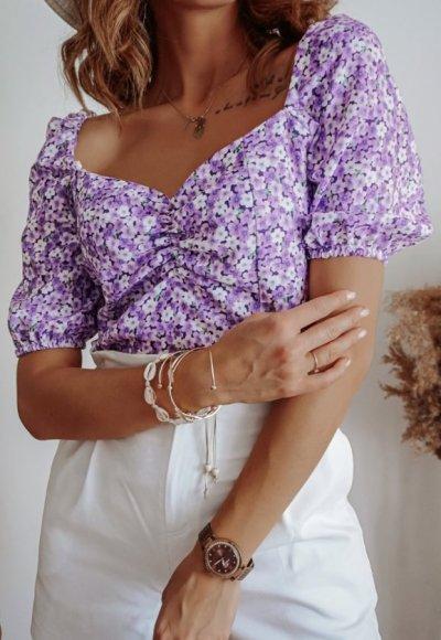 Bluzka RAMONA w drobne kwiatuszki