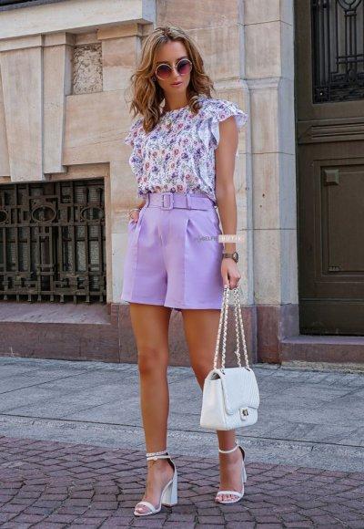 Szorty MILTY lilac 3