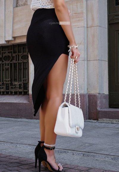 Spódnica asymetryczna MILANO czarna 2