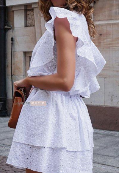 Sukienka CARMEN biała ażurowa 2