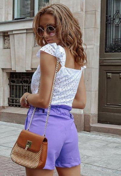 Bluzka MADRYT biała ażurowa 1