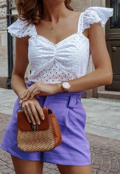Bluzka MADRYT biała ażurowa 2