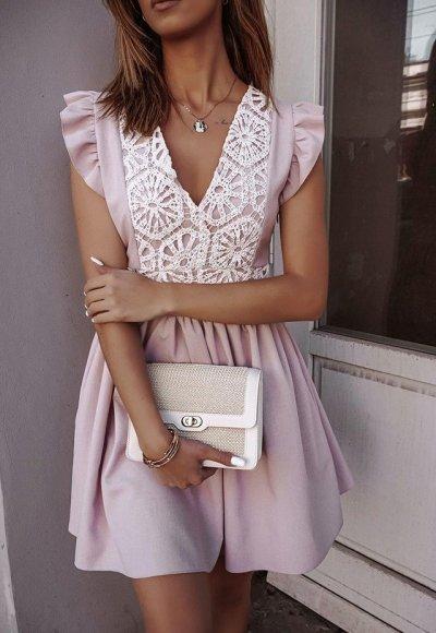 Sukienka NEVADA pudrowy róż
