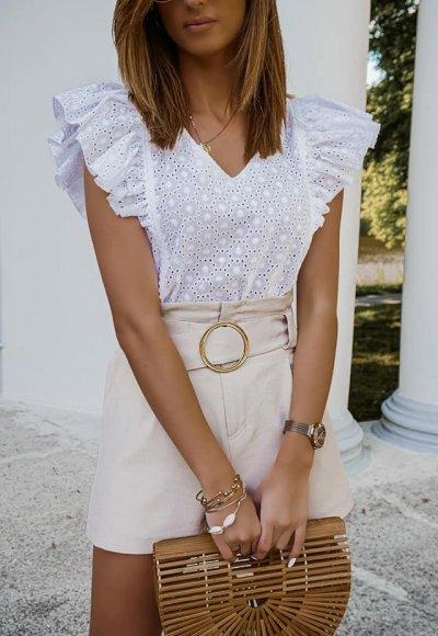 Bluzka NOEL biała haftowana