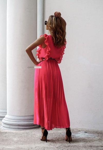 Sukienka BUTTERFLY fuksja 1