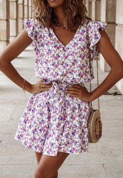 Sukienka MORGANA w kwiatowy wzór