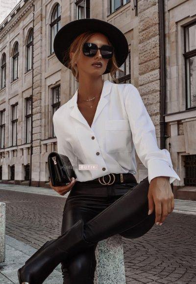 Spodnie ILLINOIS woskowane czarne