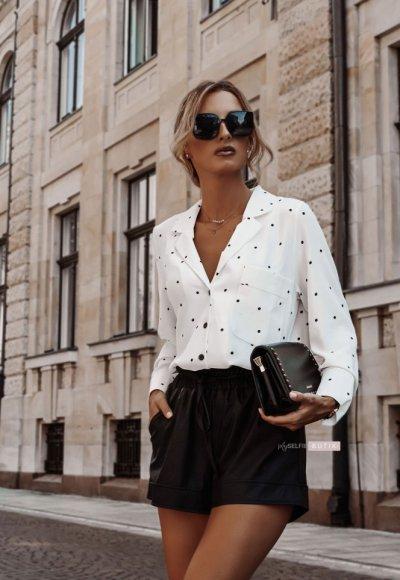 Koszula POLO WHITE dots