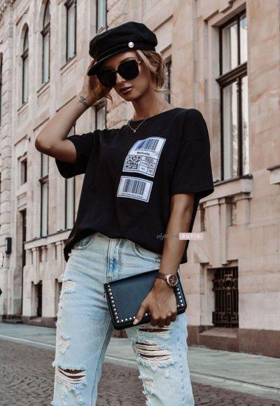T-shirt KOD czarny