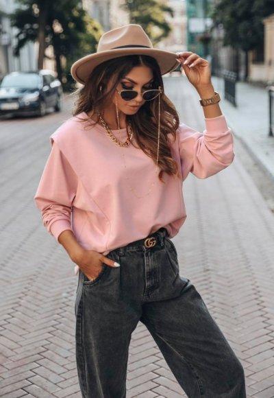 Bluza YOU różowa