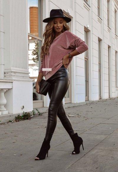 Spodnie BIKER woskowane czarne