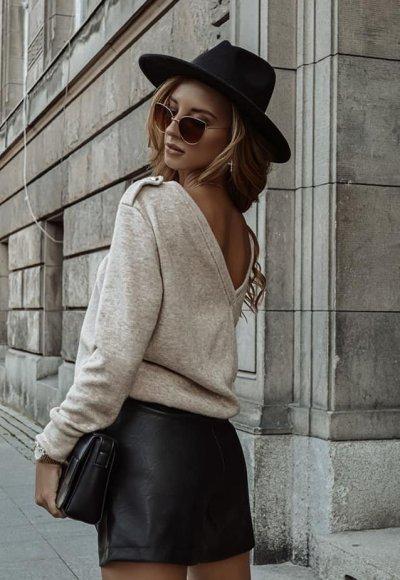 Sweter DENVER jasny beż