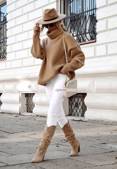 Sweter METRO camel