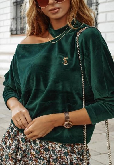 Bluza HONEY zieleń butelkowa