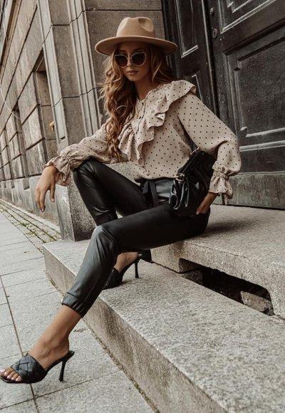 Spodnie woskowane CARLO black