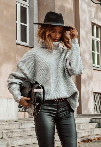 Sweter METRO popiel