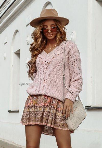 Sweter ETNA różowy