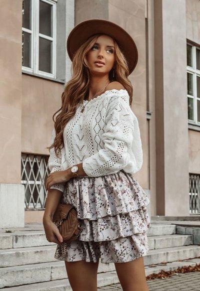 Sweter EMPIRE biały