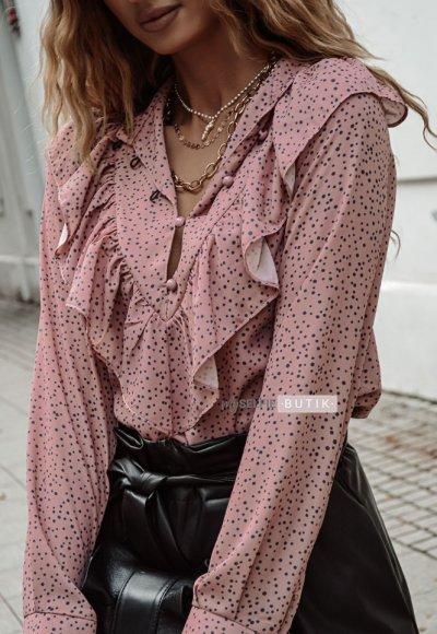 Bluzka EDITH brudny róż
