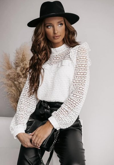 Bluzka TINNY white lace