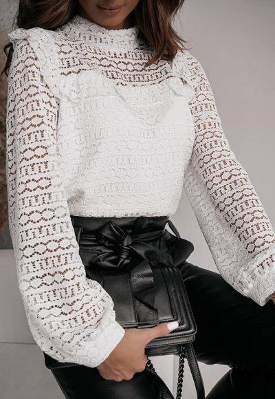 Bluzka TINNY white lace 2
