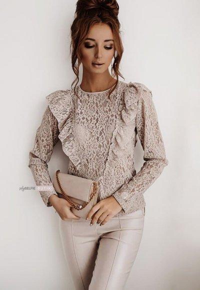 Bluzka BRIDE beige lace
