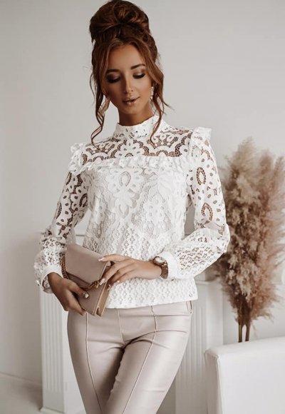 Bluzka MOLLY white lace