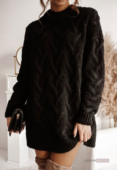 Sweter LONG czarny