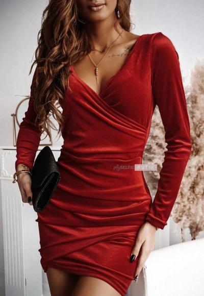 Sukienka SHINE czerwona