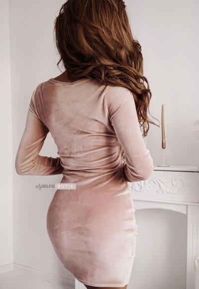 Sukienka SHINE pudrowa 1