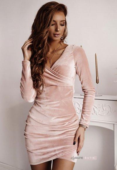 Sukienka SHINE pudrowa