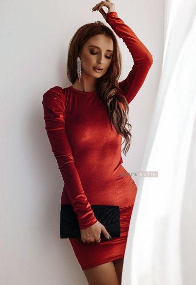 Sukienka PARIS czerwona