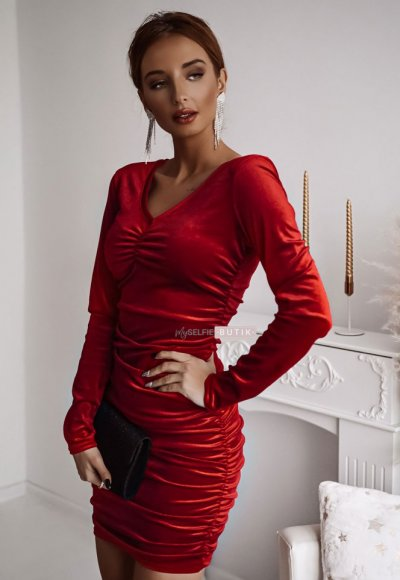 Sukienka EMERALD czerwona