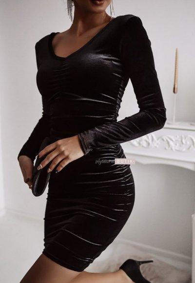 Sukienka EMERALD czarna 1