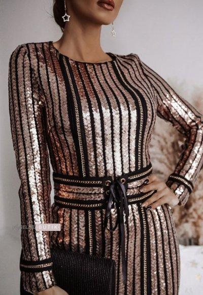 Sukienka DIAMOND różowe złoto 3