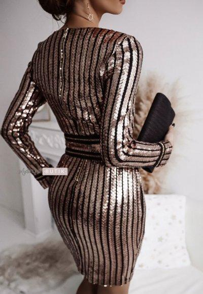 Sukienka DIAMOND różowe złoto 1