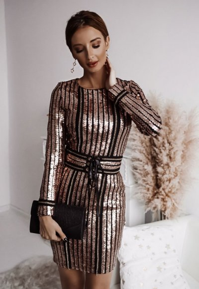 Sukienka DIAMOND różowe złoto 2
