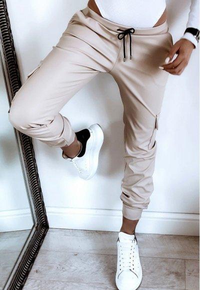 Spodnie ROMERO latte beige