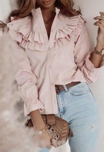 Koszula WEST baby pink
