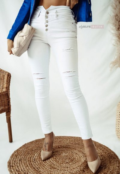 Białe spodnie VENICE