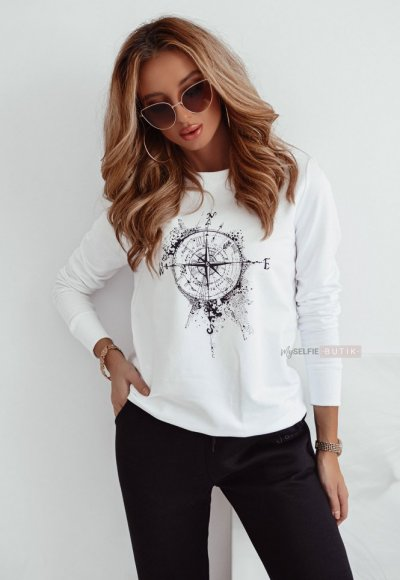 Biała bluza COMPASS