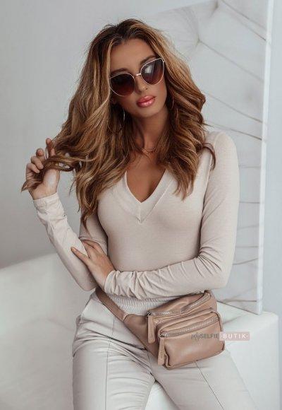 Bluzka BASIC V beige