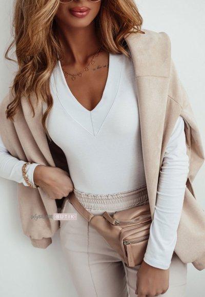 Bluzka BASIC V white