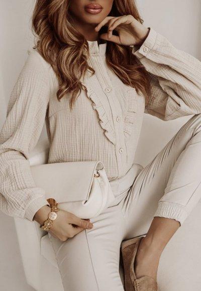 Bawełniana koszula MONACO beige