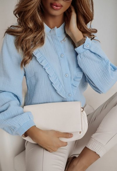 Bawełniana koszula MONACO blue