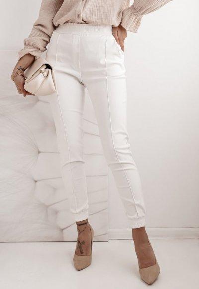 Białe spodnie BRAND